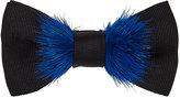 Fendi Men's Fur-Trimmed Silk Bow Tie