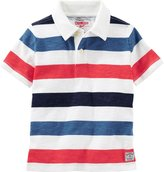 Osh Kosh Knit Polo Henley (Toddler/Kid) - Stripe - 5