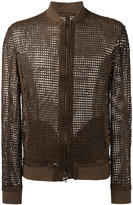 Salvatore Santoro - interlaced bomber jacket - men - Leather - 48