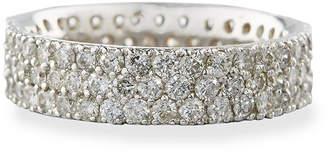 Diana M 18k Tri-Row Diamond Band Ring, 2.7tcw, Size 6.5