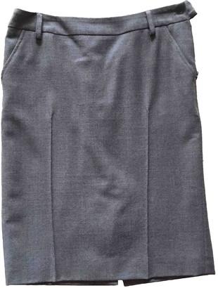 Cappellini Grey Wool Skirt for Women