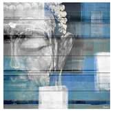 Parvez Taj Blue Buddha White Wood Wall Art