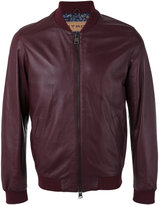 Etro leather bomber jacket - men - Silk/Cotton/Sheep Skin/Shearling/Cupro - M