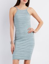 Charlotte Russe Ribbed Open-Back Bodycon Dress