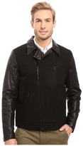 Calvin Klein Mix Media Wool Moto Jacket
