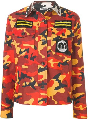 Miu Miu camouflage military jacket