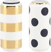 Kate Spade Fairmount Park Dot Stripe Salt & Pepper Shaker Set