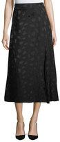 Co Pleated A-Line Midi Skirt