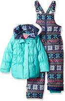 Pink Platinum Toddler Girls' Snowflake Print Snowsuit
