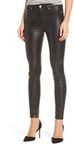 Hudson Women's Barbara High Waist Ankle Skinny Leather Pants