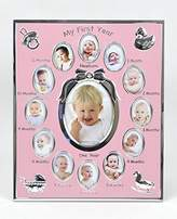 Concepts Baby My First Year Metal Picture Frame With Bow And 12 Oval Picture Slots by Concepts