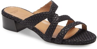 Aquatalia Hollie Woven Strappy Slip-On Sandal