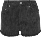 Sandro Please frayed denim shorts