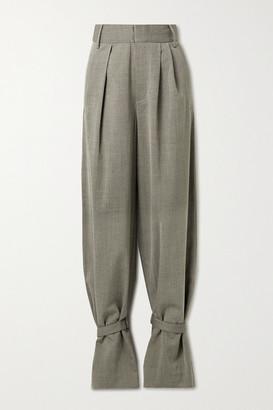 Tibi Luka Pleated Twill Tapered Pants - Gray