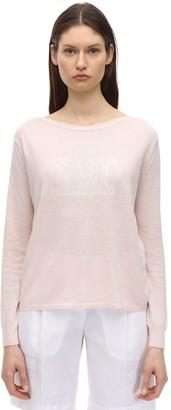 Max Mara Silk & Linen Intarsia Knit Sweater