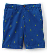 Classic Little Boys Slim Pattern Cadet Shorts-Cruise Blue Paisley