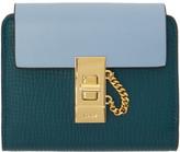 Chloé Green Square Drew Wallet