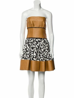 Sophie Theallet Printed Mini Dress w/ Tags brown