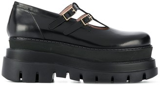 MSGM platform Mary Jane loafers