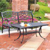 Crosley 2-Piece Sedona Loveseat & Table Set in Black