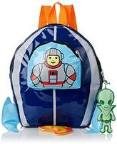 Kidorable Toddler (7 x 10 inches) Blue Space Hero, Fun Alien Zipper & 3D Embelishments Backpack