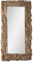 One Kings Lane 40x79 Teak Floor Mirror, Natural