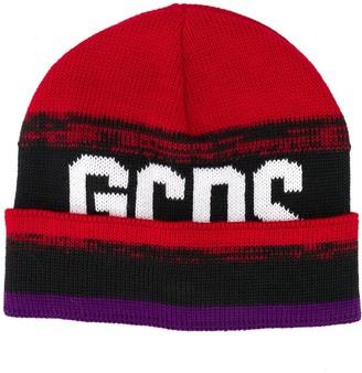 GCDS Knitted Logo Beanie