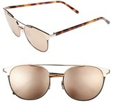 Linda Farrow Women's 54Mm Gold Plated Aviator Sunglasses - Rose Gold/ Black Rim