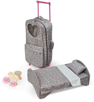 Badger Basket Travel and Tour Trolley Carrier with Bed for 18-inch Dolls