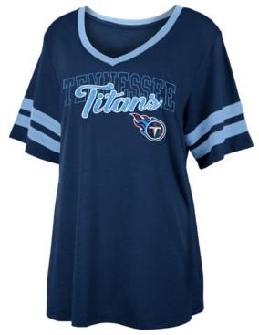 5th & Ocean Women's Tennessee Titans Sleeve Stripe Slub T-Shirt