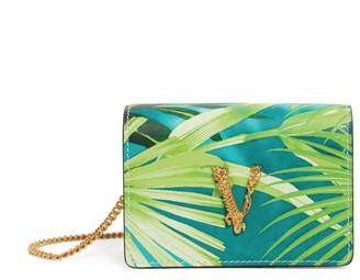 Versace Mini Leather Jungle Virtus Chain Wallet