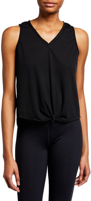 Onzie Knot Sleeveless Tee, Black