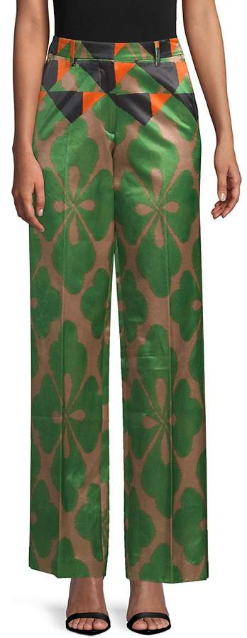 Dries Van Noten Women's Printed Wide-Leg Pants