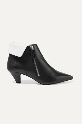 Tabitha Simmons + Equipment Chrissie Two-tone Leather Ankle Boots - Black