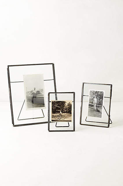 Anthropologie Pressed Glass Photo Frame