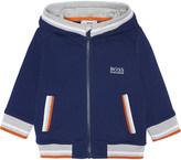 HUGO BOSS Piquet zip cotton hoody 6-36 months