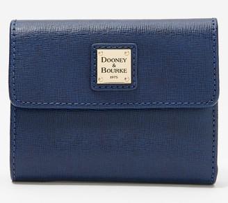 Dooney & Bourke Leather Saffiano Small Flap Wallet
