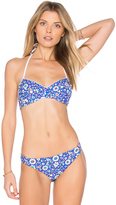 Shoshanna Mosaic Floral Bikini Top
