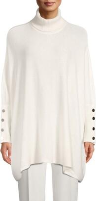 Anne Klein Drop Shoulder Turtleneck Sweater