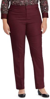 Chaps Plus Mid-Rise Cotton-Blend Straight Pants