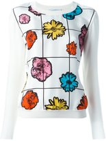 Moschino floral jumper - women - Silk/Virgin Wool - 42