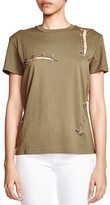 The Kooples Slashed and Pinned Tee