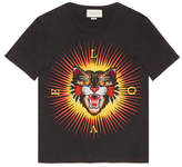 Gucci Cotton T-shirt with Angry Cat appliqué