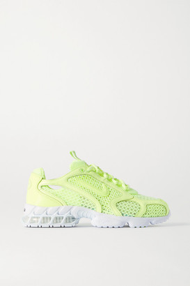 Nike Air Zoom Spiridon Cage 2 Faux Leather-trimmed Mesh Sneakers - Bright green