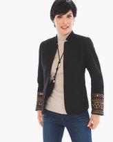 Chico's Embellished Sleeve Jacket