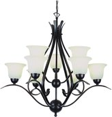 Trans Globe Lighting 9289 Rob Chandelier with White Glass Shades