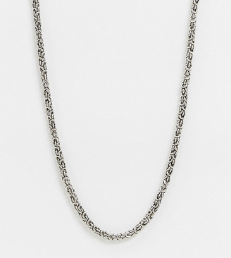 Reclaimed Vintage inspired short chain necklace in silver
