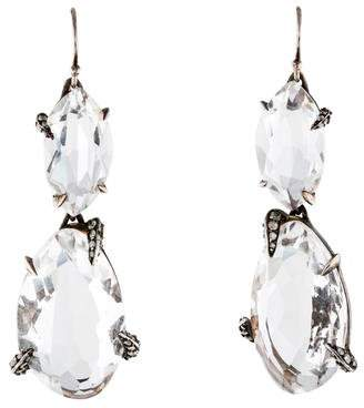 Alexis Bittar Quartz & Diamond Drop Earrings