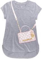 Sean John Faux Quilted Bag T-shirt, Big Girls (7-16)