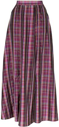 N. Duo check pleated skirt